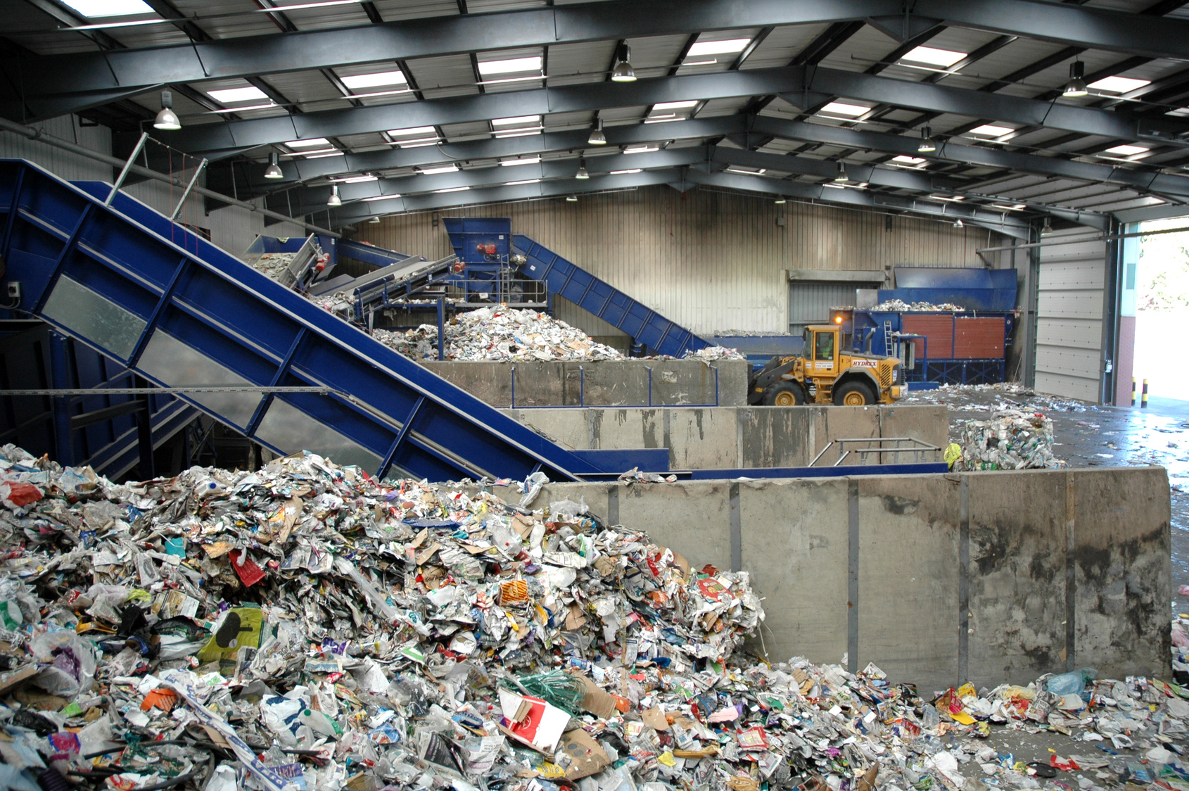 Mechanical recycling of plastics can operate at a local level. Photo credit: European Bioplastics