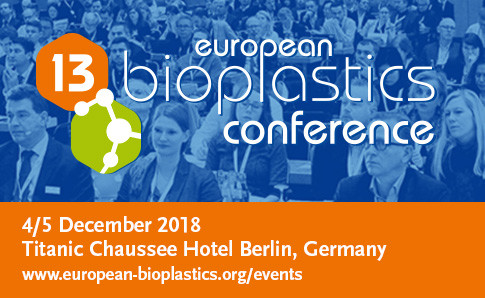Exciting speaker line-up at the 13th European Bioplastics Conference 4/5 December 2018