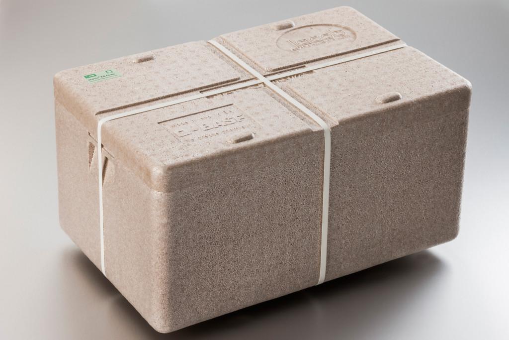 Transportation box made from BASF's ecovio EA