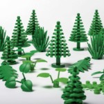 LEGO botanical elements made from biobased PE